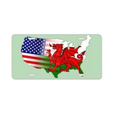 American Welsh Map Aluminum License Plate