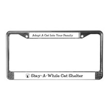 """Adopt A Cat Into Your Family"" License Plate Frame"
