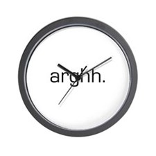Arghh Wall Clock