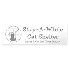 """Adopt A Cat Into Your Family"" Bumper Bumper Sticker"