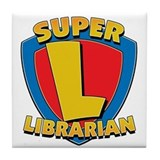 Super Librarian Tile Coaster