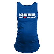 grow twinsblack.png Maternity Tank Top