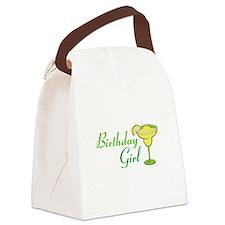 Birthday Girl margarita Canvas Lunch Bag