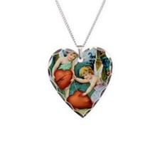 Cherubs Mending Broken Heart Necklace