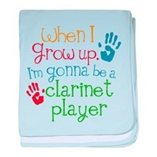 Future Clarinet Player baby blanket