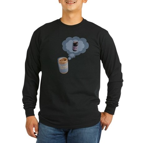 Peanut Butter Long Sleeve Dark T-Shirt