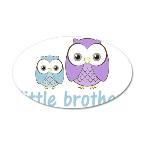 littlebrotherowlbpu 35x21 Oval Wall Decal