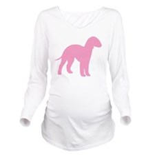 Pink Bedlington Long Sleeve Maternity T-Shirt