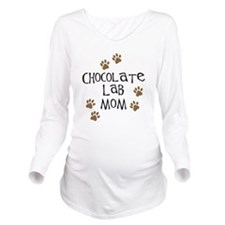 chocolate lab mom wh.png Long Sleeve Maternity T-S