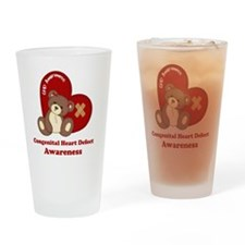 Congenital Heart Defect Awareness Drinking Glass