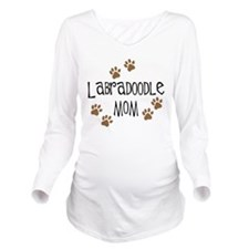 3-labradoodle mom wh.png Long Sleeve Maternity T-S