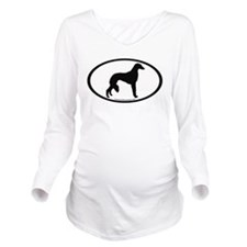 Saluki Oval Long Sleeve Maternity T-Shirt