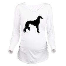 saluki white.png Long Sleeve Maternity T-Shirt