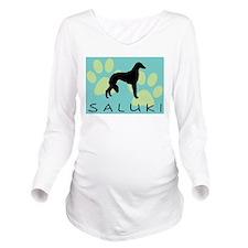 saluki paw wd.jpg Long Sleeve Maternity T-Shirt