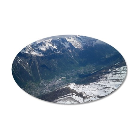 Chamonix Valley View 35x21 Oval Wall Decal
