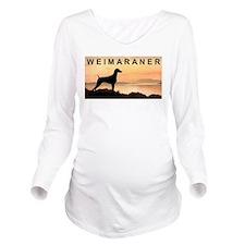 Weimaraner Sunset Long Sleeve Maternity T-Shirt