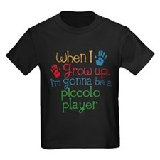 Future Piccolo Player Kids Dark T-Shirt