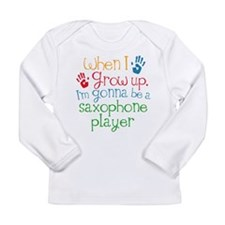 Future Saxophone Player Long Sleeve Infant T-Shirt