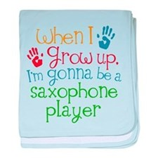 Future Saxophone Player baby blanket