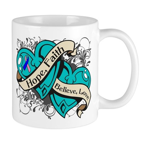 Thyroid Cancer Hope Hearts Mug