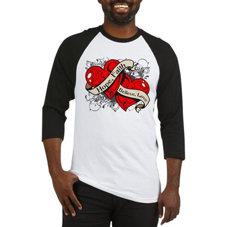 Stroke Hope Faith Dual Hearts Baseball Jersey