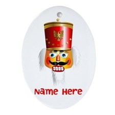 Nutcracker Head Ornament (Oval)
