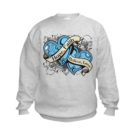 Prostate Cancer Hope Hearts Kids Sweatshirt
