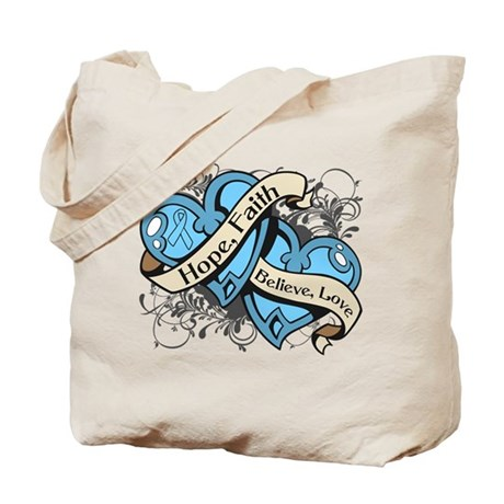 Prostate Cancer Hope Hearts Tote Bag
