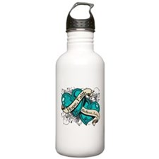 PCOS Hope Faith Dual Hearts Water Bottle