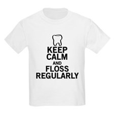Keep Calm and Floss Regularly T-Shirt