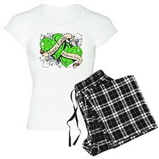 Non-Hodgkins Lymphoma Hope Hearts pajamas