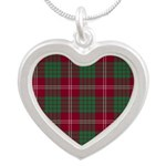 Tartan - Crawford Silver Heart Necklace