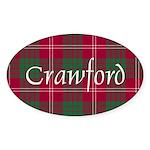 Tartan - Crawford Sticker (Oval 10 pk)