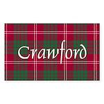 Tartan - Crawford Sticker (Rectangle)