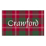 Tartan - Crawford Sticker (Rectangle 10 pk)