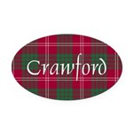 Tartan - Crawford Oval Car Magnet