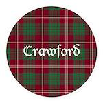 Tartan - Crawford Round Car Magnet
