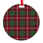 Tartan - Crawford Round Ornament