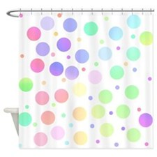 Pastel polka dots Shower Curtain