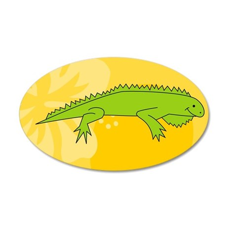 Iguana Business Card Case 35x21 Oval Wall Decal