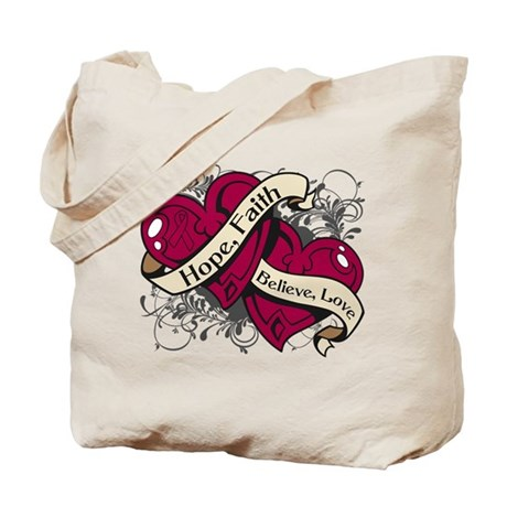 Multiple Myeloma Hope Hearts Tote Bag