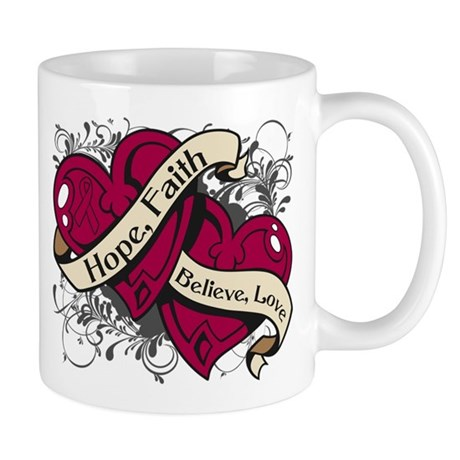 Multiple Myeloma Hope Hearts Mug