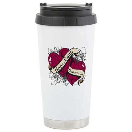 Multiple Myeloma Hope Hearts Ceramic Travel Mug
