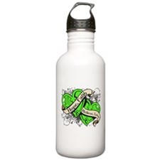 Lymphoma Hope Hearts Water Bottle