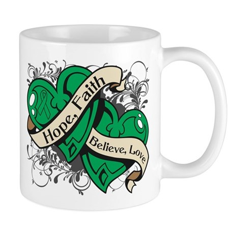 Liver Cancer Hope Faith Dual Hearts Mug