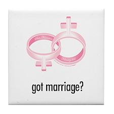 got marriage? White Tile Table Coaster