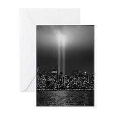 USA, New York City, Manhattan skylin Greeting Card