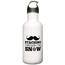 Staching Through The Snow Water Bottle