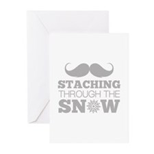 Staching Through The Snow Greeting Cards (Pk of 20
