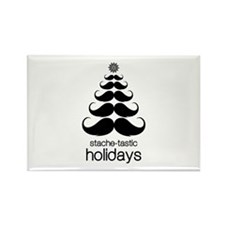 Stache-tastic Holidays Rectangle Magnet (10 pack)